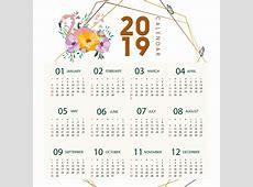Calendário 2019 Flamingo Flamingo Calendário Floral PNG e