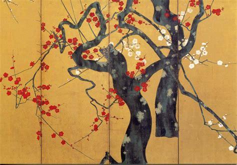 fiori di prugna pittura giapponese di shoko okumura fiore di prugna