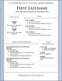 curriculum vitae template free free resume templates free cv template dot org