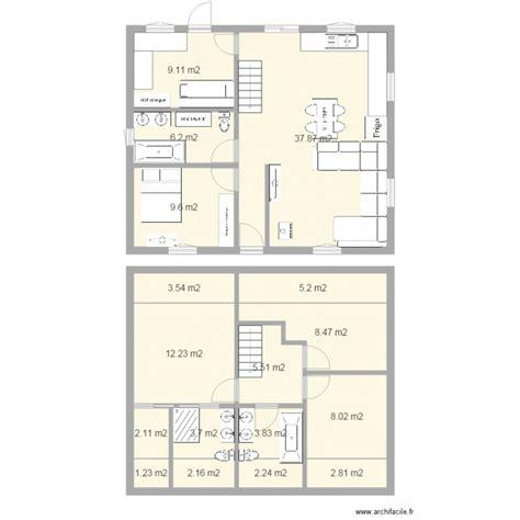 bureau a louer maison a etage facade 10m plan 17 pièces 124 m2 dessiné