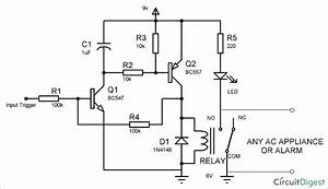Simple Latch Circuit Diagram With Transistors