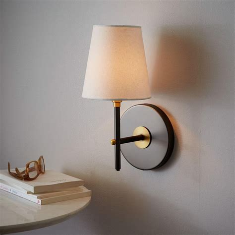 arc mid century sconce single antique bronze west elm uk