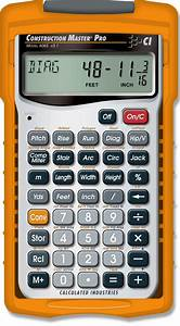 Construction Master Pro Construction Calculators