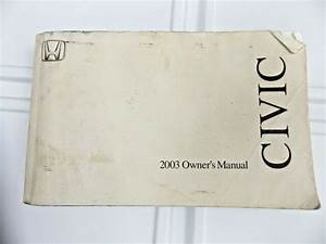 2003 Honda Civic Owners Manual User Guide Reference