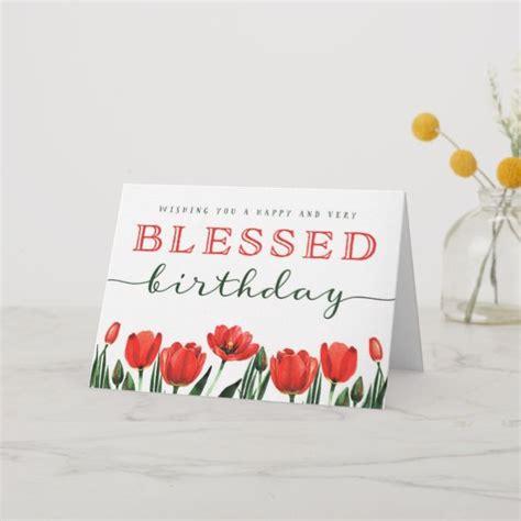 wishing   blessed birthday   card zazzlecom