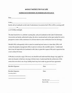 best photos of move out notice to tenant template 30 day With template for 60 day notice to vacate
