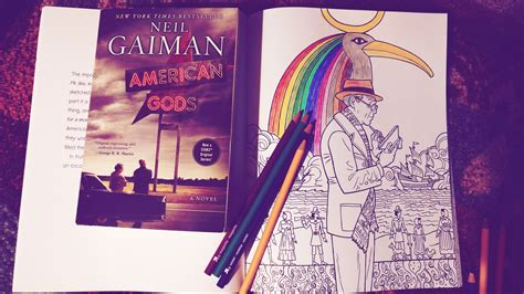 The Neil Gaiman Coloring Book review american gods by neil gaiman and coloring book
