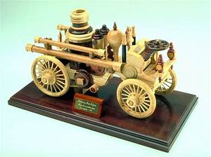 Woodworking plan for a wood, steam powered fire engine