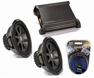 Kicker Car Audio 10 U0026quot  Sub System Cvr10 Dual 2 Ohm Subwoofer