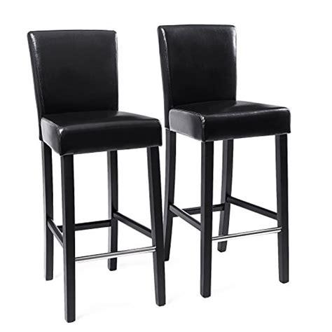 chaise de bar avec dossier songmics 2x tabourets de bar en pu avec dossier chaise rembourrée noir ldc31b tabouret bar fr