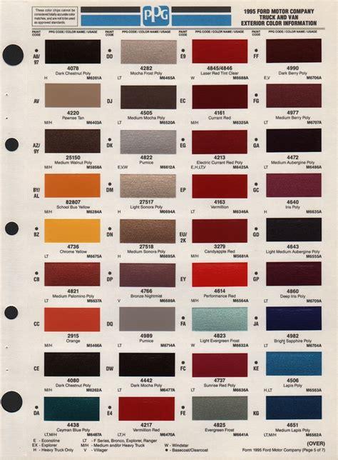 truck paint colors ford truck paint codes autos post