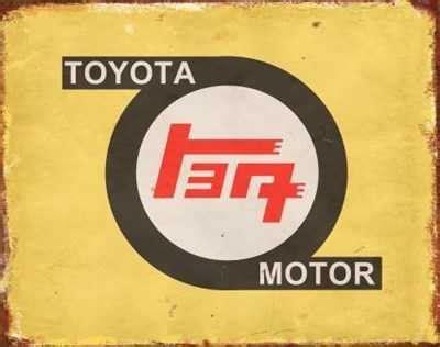 toyota old logo toyota old logo tin sign mainly nostalgic retro tin