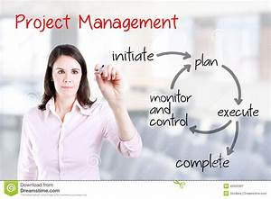 Young Business Woman Writing Project Management Workflow
