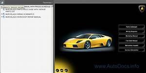 Lamborghini Murcielago Parts And Service Manual Parts Catalog Repair Manual Order  U0026 Download