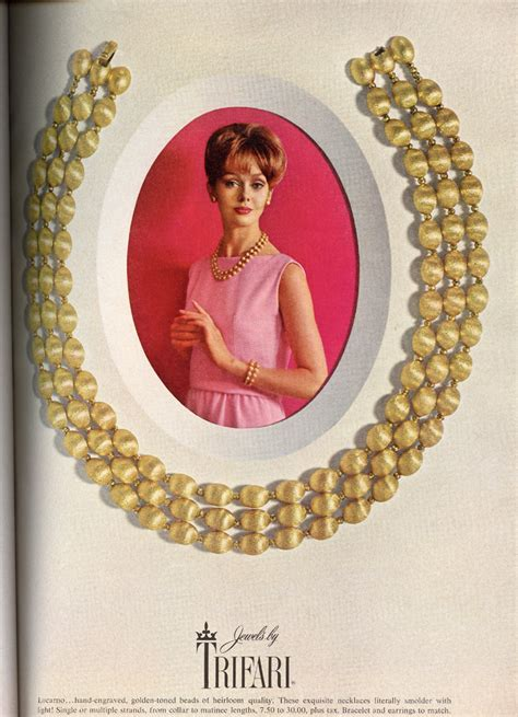 trifari jewelry ads
