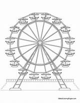 Ferris Wheel Coloring Pages Park Printable Drawing Wheels Medicine Sheets Draw Amusement Theme Drawings Fair Bestcoloringpages Craft Farris Carnival Coaster sketch template