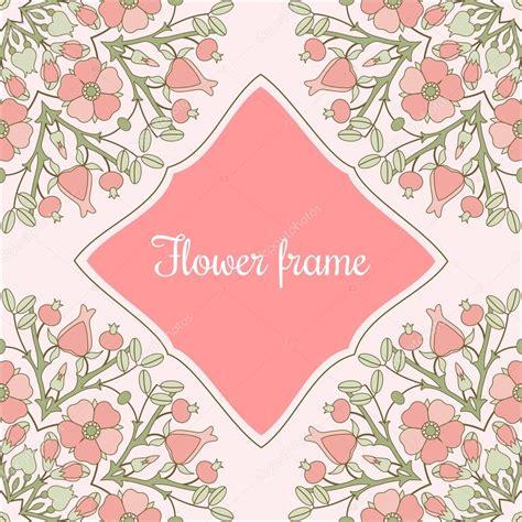 marco flores vintage Vector de stock © Irmairma #117592452
