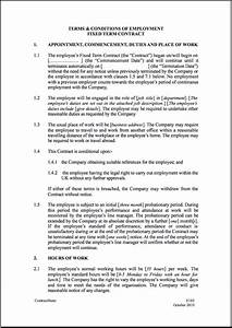 Fixed short term employment contract template for Templates for employment contracts