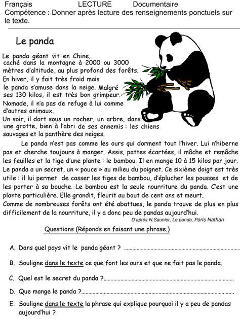 jeux de cuisine gratuit en francais le panda exercice de lecture momes