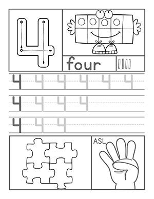number 4 preschool worksheet preschool number worksheets 359