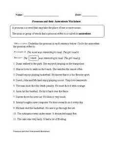 Pronoun Antecedent Worksheet Pronouns And Their Antecedents Worksheet Englishlinx Com Board Worksheets