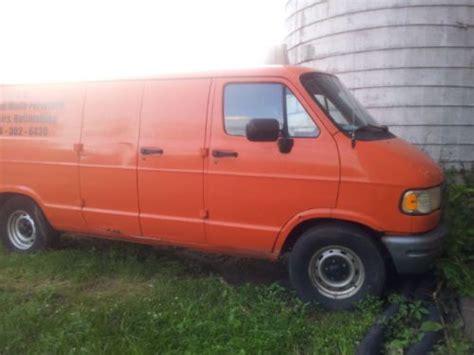 how cars run 1997 dodge ram van 2500 security system buy used 1997 dodge ram 2500 work van orange color in spring city pennsylvania united states
