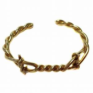 TOM FORD Twisted Bracelet Model 'Barbed Wire' in Vermeil