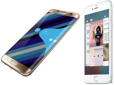 samsung galaxy  edge  apple iphone