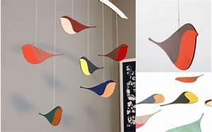 Mobile Bébé Bois : mobile oiseaux en bois d coration chambre b b et enfant cadeau b b mobiles b b s d co plafond ~ Teatrodelosmanantiales.com Idées de Décoration