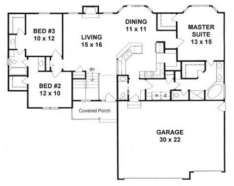 plan   bedroom ranch  mud room walk  pantry