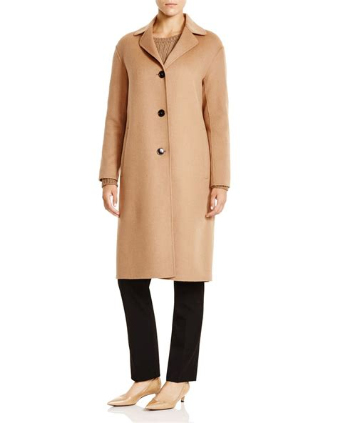 maxmara by hl weekend by maxmara hudson three button coat in brown lyst