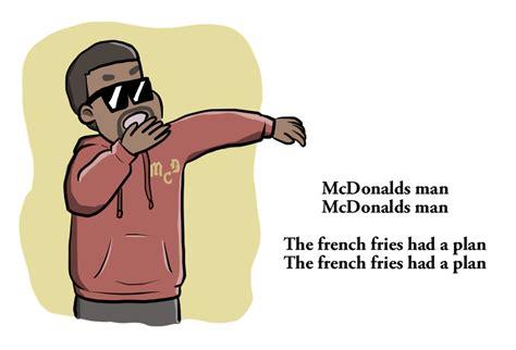 kanye wests mcdonalds poem illustrated  verge