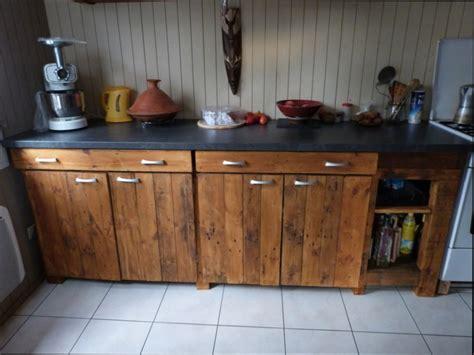 meuble cuisine en palette cuisine bois meuble cuisine avec palette en bois
