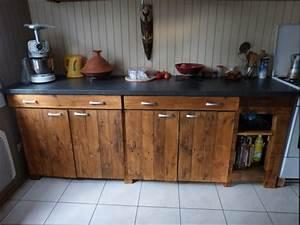 cuisine bois fabriquer un meuble de cuisine en bois With meuble de cuisine en bois