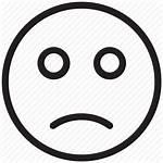 Sad Facial Expression Icon Face Emoji Feeling