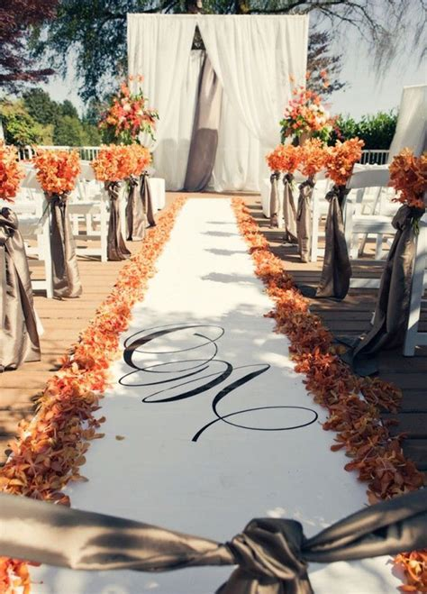 16 awesome outside fall wedding ideas