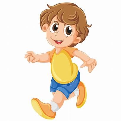 Walking Boy Clipart Cartoon Walk Transparent Child