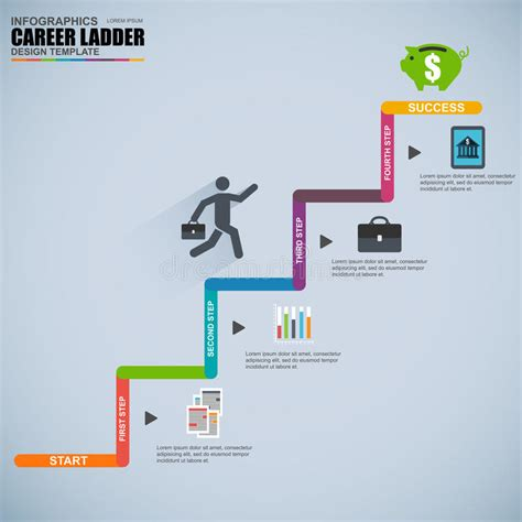 11634 career path infographic template infographics business career ladder vector design template