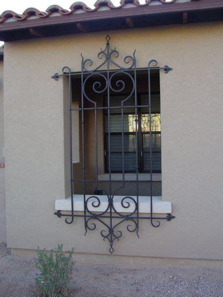 wrought iron window grills open  windows   day