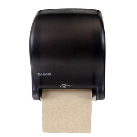 San Jamar T8400TBK Black Hands Free Paper Towel Dispenser