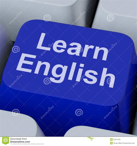 learn english key shows studying language  stock