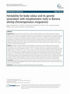 (PDF) Heritability for body colour and its genetic ...