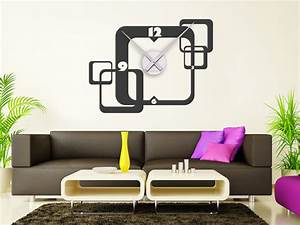 Moderne Wanduhren Design : retro wandtattoo uhr cubes ~ Markanthonyermac.com Haus und Dekorationen