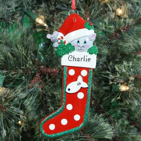 personalized cat ornament personalized personalized cat
