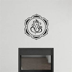 sticker muraux zen sticker mural ganesha le lotus et With dessine nous une maison 11 sticker citation zen stickers citations