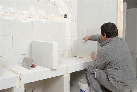 siporex salle de bain une structure en bloc de b 233 ton cellulaire le siporex bricolage avec robert