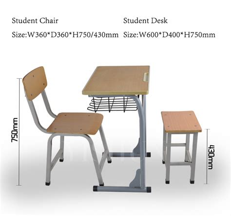 comfortable clasroom classic wooden study desk and