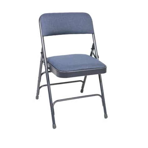 am ffc blue fabric padded metal folding chair the