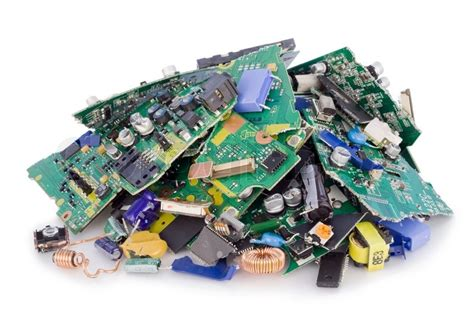 Broken Destroyed Cut Pieces Electronic Printed Circuit