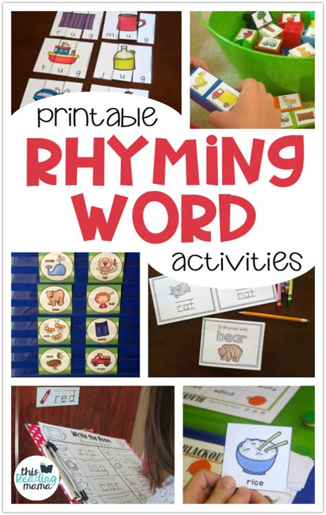 printable rhyming activities for kids this reading mama